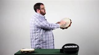Tambourine Demonstration Video Part Two: Stroke Types mf to ppp