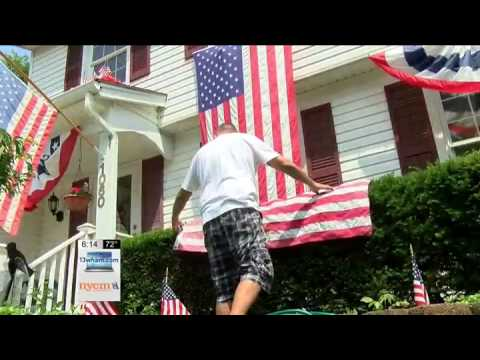 176  American flags flying at Irondequoit home