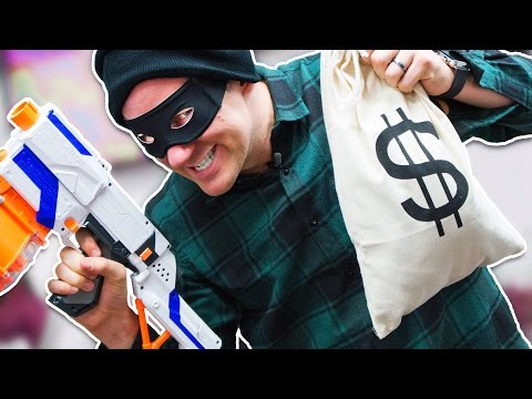 NERF Bank Robber Challenge!
