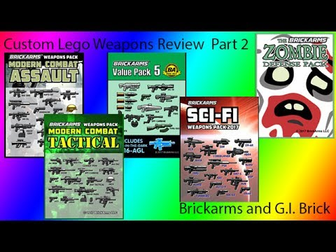 Custom Lego Weapons Review: G.I. Brick Brickarms Weapons Part 2
