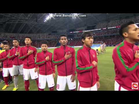 Football SemiFinal Thailand vs Indonesia National Anthem 28th SEA Games Singapore 2015