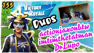 Ninja Duos Actionjaxonbtw & imtimthetatman & DrLupo - Hime Skin Fortnite Game Play Season 5