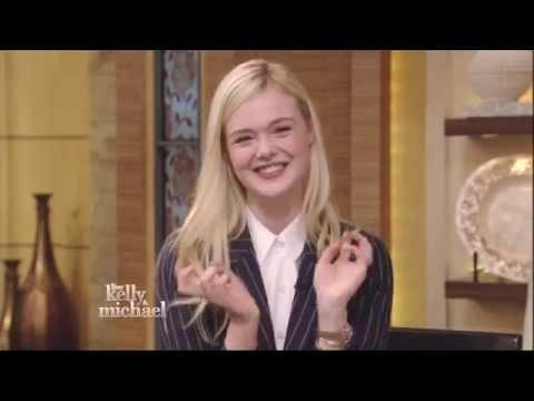 Elegant Elle Fanning on Live with Kelly & Michael 5 28 14 part 1