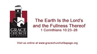 The Earth Is the Lord