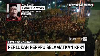 Fahri Hamzah Bicara Perppu dan Aksi Tolak Revisi UU KPK #LayarDemokrasi