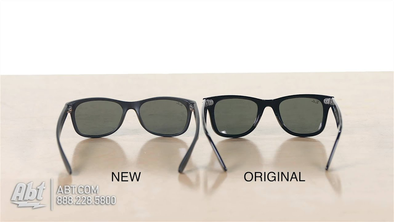 new style ray bans  Ray-Ban Wayfarer Comparison: Original Vs. New Style - YouTube