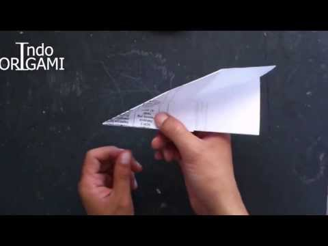 cara buat origami sederhana pesawat kertas