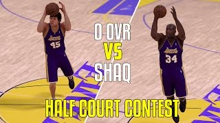 CAN SHAQ BEAT A 0 OVERALL PLAYER IN A HALF COURT CONTEST? NBA 2K17!