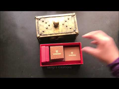 DIY Antique Style Keepsake Trinket Jewelry box out of cell phone cover/Best reuse of Phone cover|box
