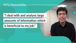 Career Options with NTU School of Humanities: Harold