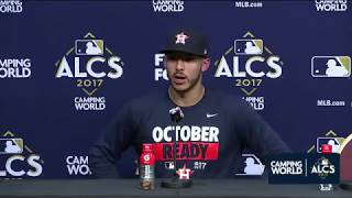 Carlos Correa Postgame Interview | Astros vs Yankees Game 2 ALCS