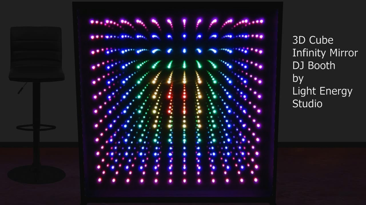 3d Cube Infinity Mirror Dj Booth Youtube