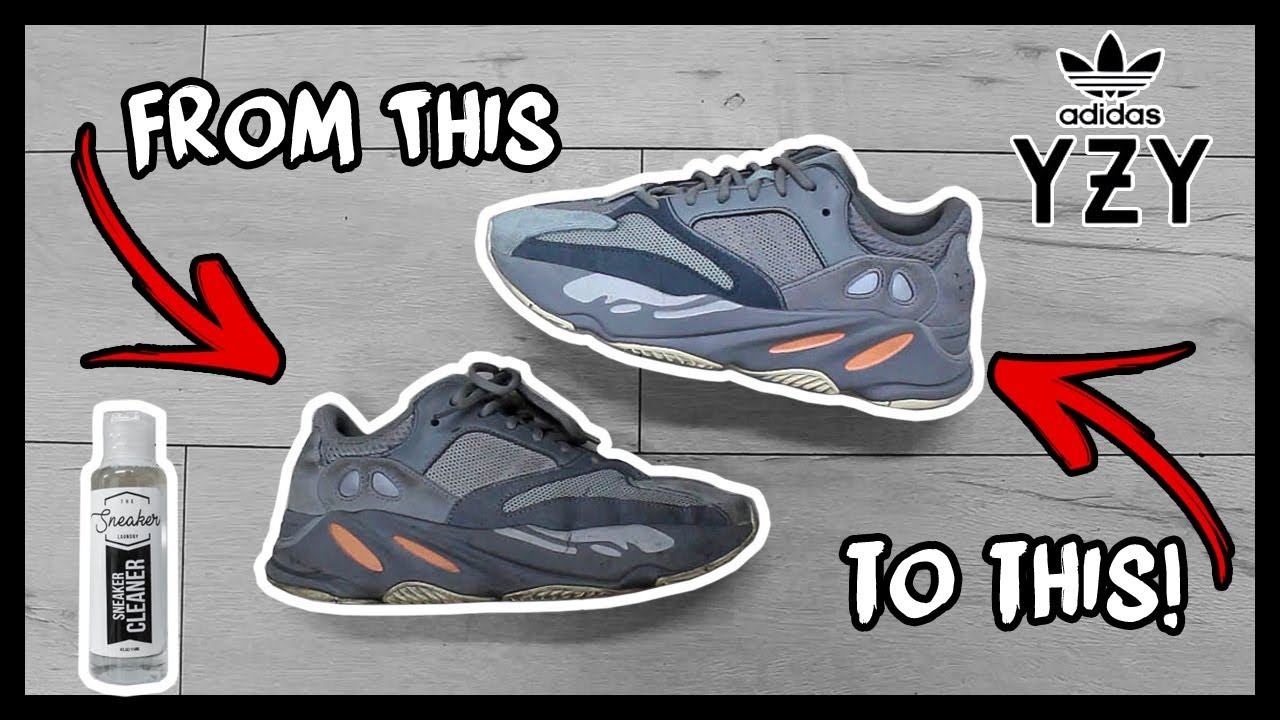 CLEANING FILTHY ADIDAS YEEZY 700's TO