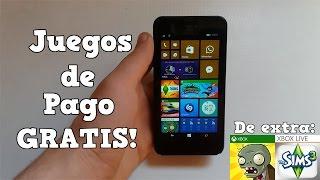 Instalar Apps y Juegos de Pago gratis en Windows Phone (Nokia Lumia)