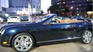 2008 Bentley Continental GT Convertible Mulliner Blue on Brown in Beverly Hills @porscheconnect