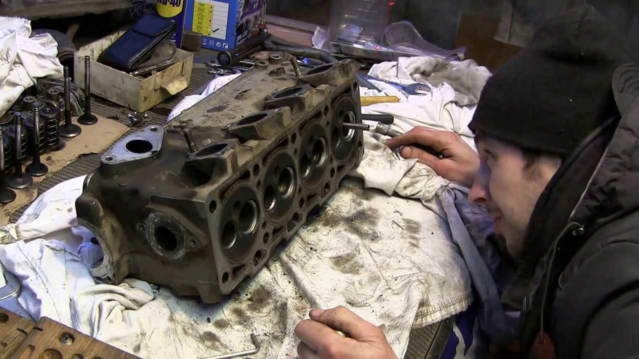 Golf 2 ремонт ДВС видео 10, шарошим головку и мой набор шарошек
