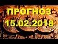 BTC/USD — Биткойн Bitcoin прогноз цены / график цены на 15.02.2018 / 15 февраля 2018 года