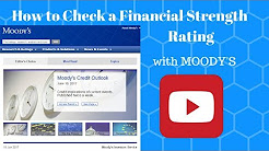How to Check a Financial Strength Rating with Moody's