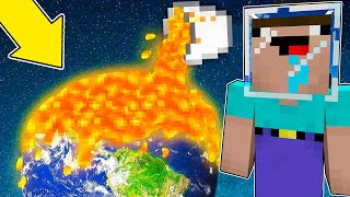 Minecraft Battle - NOOB vs PRO : SCARY NOOB DESTROY THIS PLANET WITH LAVA !  (Animation)