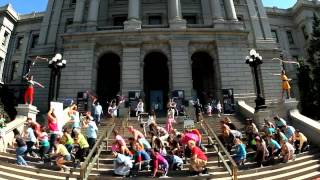 Step Up for Kids #TalkPoverty - Colorado Flash Mob for Kids at the State Capitol
