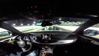 2013 Audi S6 w/APR Stage 1 Software (100 octane) 1/4 mile drag race PBIR 2/13/15 2 of 5