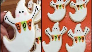 BOO Ghost Halloween Cookies(How To)