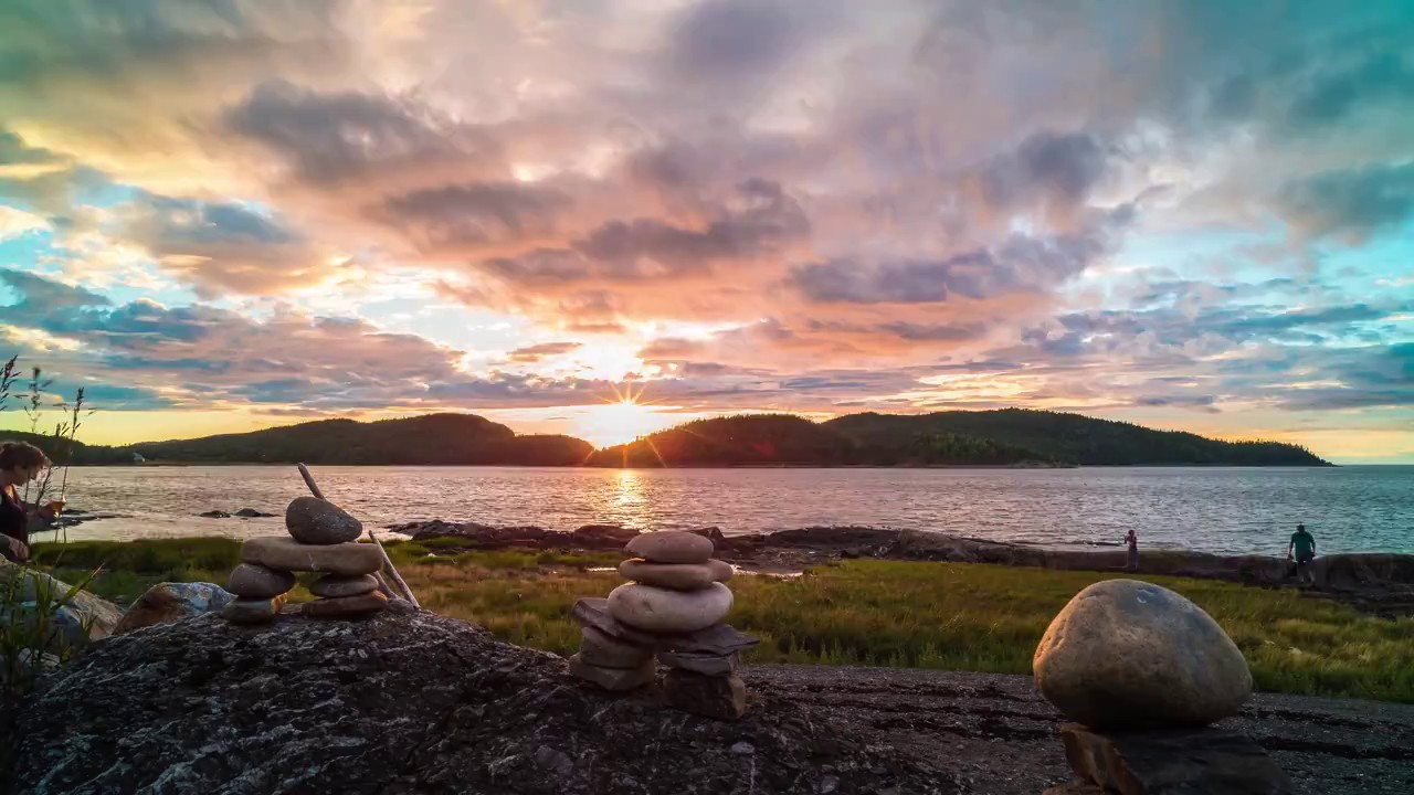 Coucher de soleil au parc national du bic timelapse 4k for Parc national du bic