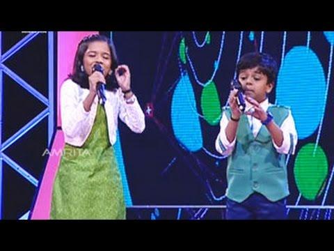 Sreenandh & Sreyakutty Singing - Appukutta Thoppikara in Super Star Junior- 5 | Amrita TV