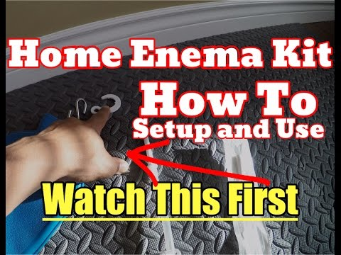 [NEW] How To Use a Home Enema Kit Tutorial - Easy Setup, Do an Enema Properly
