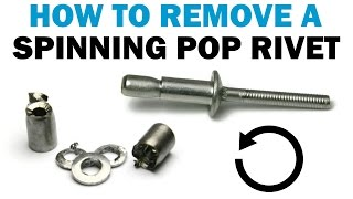 Remove a Spinning oŗ Loose POP Rivet With Duck Tape   Fasteners 101