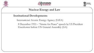 Nuclear Energy And Law