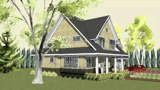 Simple Craftsman Home Plan With Cottage Exterior And Front Porch   Stillwater Craftsman