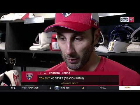 Roberto Luongo -- Florida Panthers at Carolina Hurricanes 11/07/2017