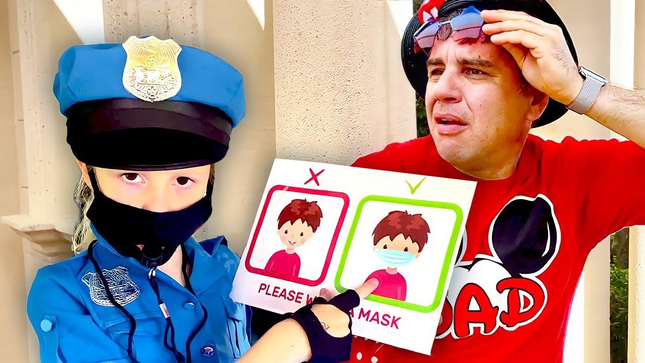 Download Nastya joue un policier et apprend à son père à porter un masque