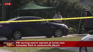 FBI serving search warrant