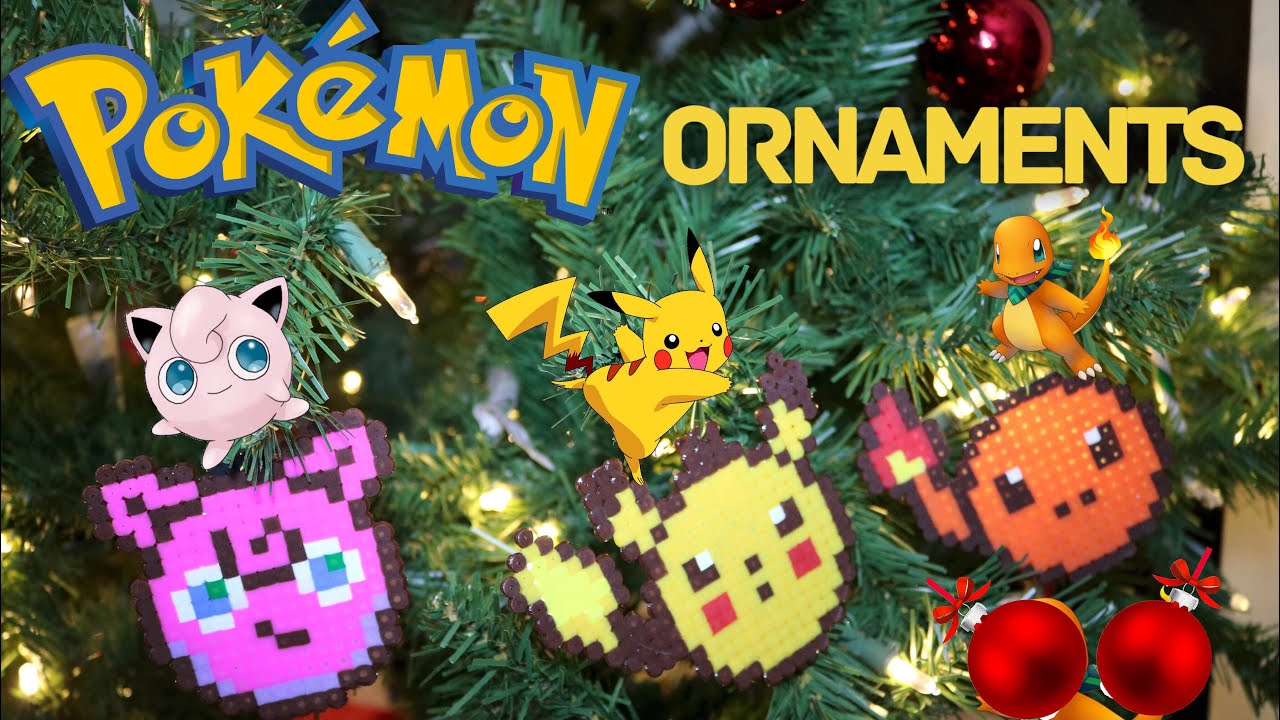 Pikachu Christmas Ornament.Diy Pokemon Perler Bead Christmas Ornaments Coasters Tutorial 30