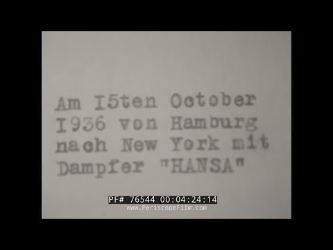 1936 TRIP TO NAZI GERMANY HOME MOVIE  MUNICH  KNEIPPIANUM HOTEL 76544