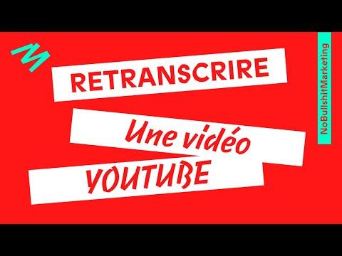 Comment Retranscrire Une Vidéo Youtube en Texte ?