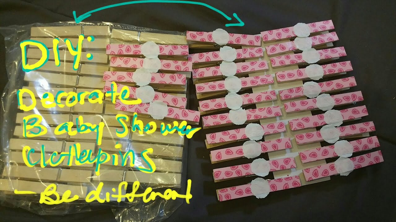 Diy Clothespin For Baby Shower Idea Youtube