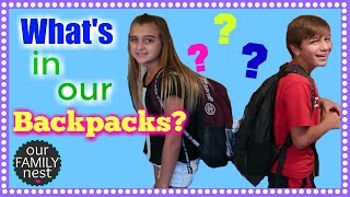 WHAT'S IN MY BACKPACK? -- SCHOOL SUPPLIES HAUL 2016 -- MIDDLE SCHOOL
