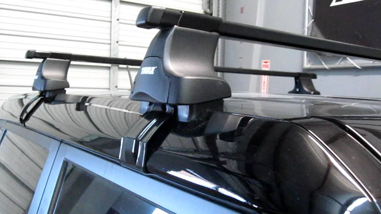 2012 KIA Soul with Thule 480 Traverse Base Roof Rack by ...