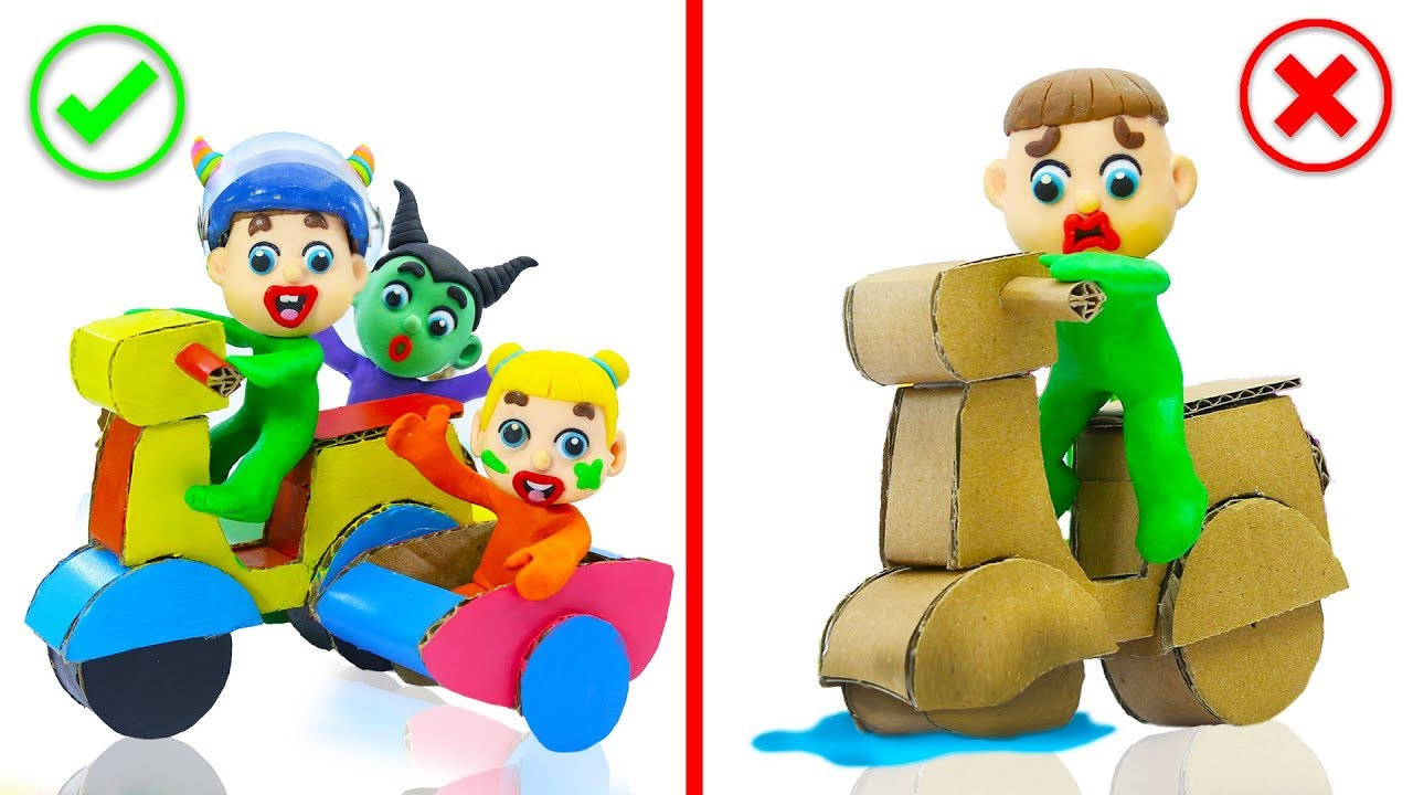 superhero-baby-makes-motorcycle-with-cardboard-play-doh-cartoons-for-kids