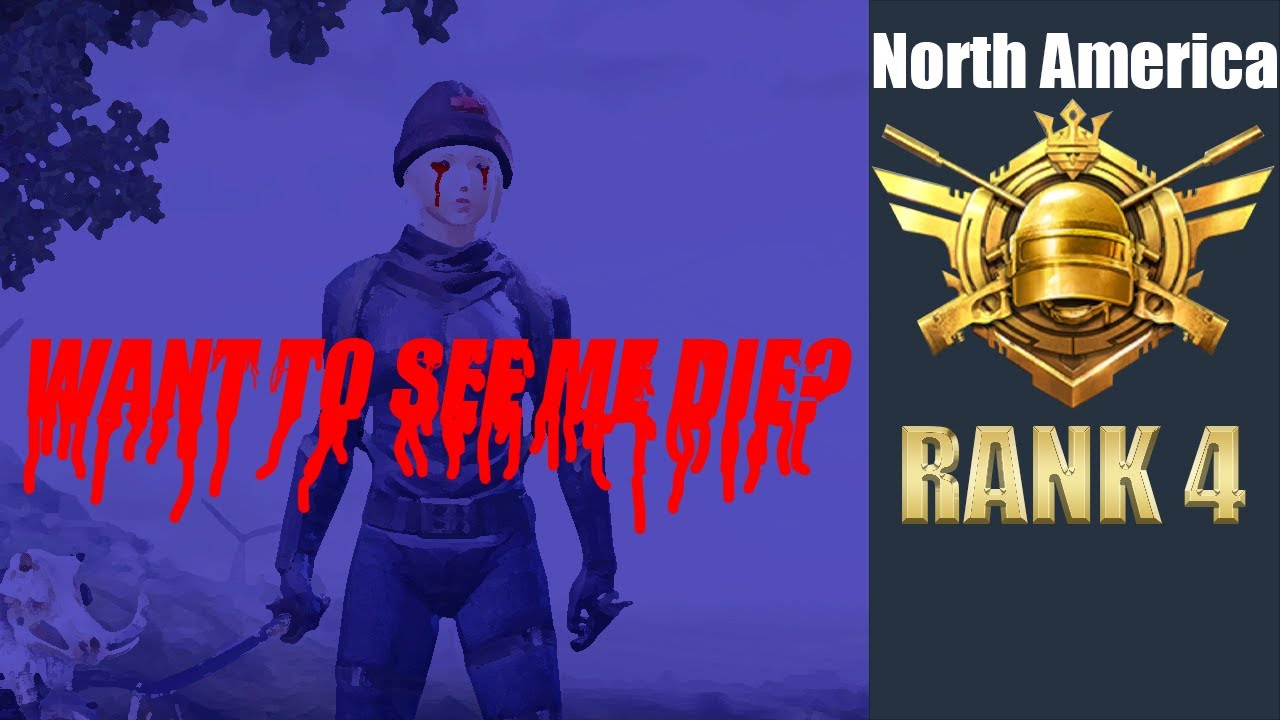 NA│WANT TO SEE ME DIE?│SQUAD RANK 4│RANK MATCH IN NA│PUBG MOBILE