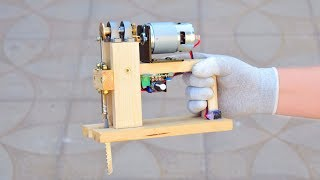 How to make a Powerful 24V JIGSAW at home DIY Chainsaw