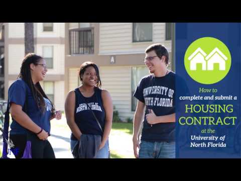 How to complete your UNF Housing Contract - YouTube