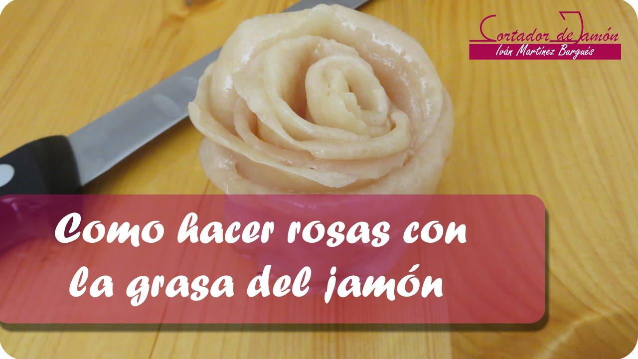 Como hacer rosas con grasa del jamón - Iván Martínez Cortador de jamón de Teruel