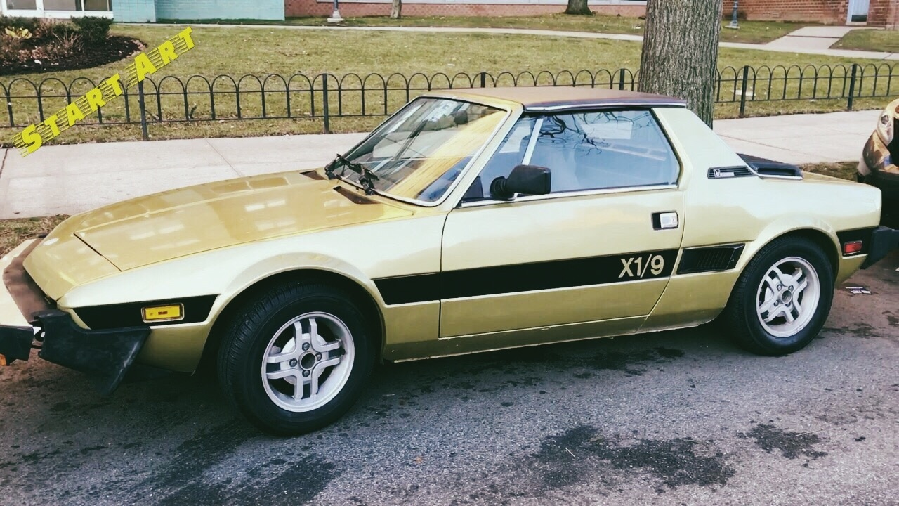 presenting fiat bertone x1 9 in gold youtube. Black Bedroom Furniture Sets. Home Design Ideas