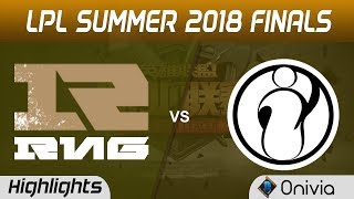RNG vs IG Highlights Game 4 LPL Summer Finals 2018 Royal Never Give Up vs Invictus Gaming by Onivia