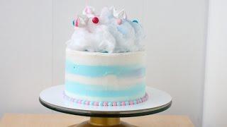 Торт с сахарной ватой(Всем доброго и солнечного утра! Смотрите процесс украшения торта сахарной ватой. Буду теперь чаще вас радов..., 2016-04-03T12:01:55.000Z)
