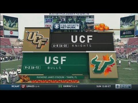 November 26, 2016 - Central Florida Knights vs. South Florida Bulls Full Football Game 60fps